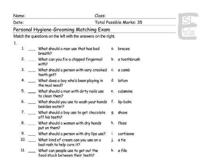 hygiene quiz - Pinarkubkireklamowe