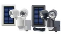 Duo Solar LED-Strahler mit Bewegungsmelder, schwarz und ...