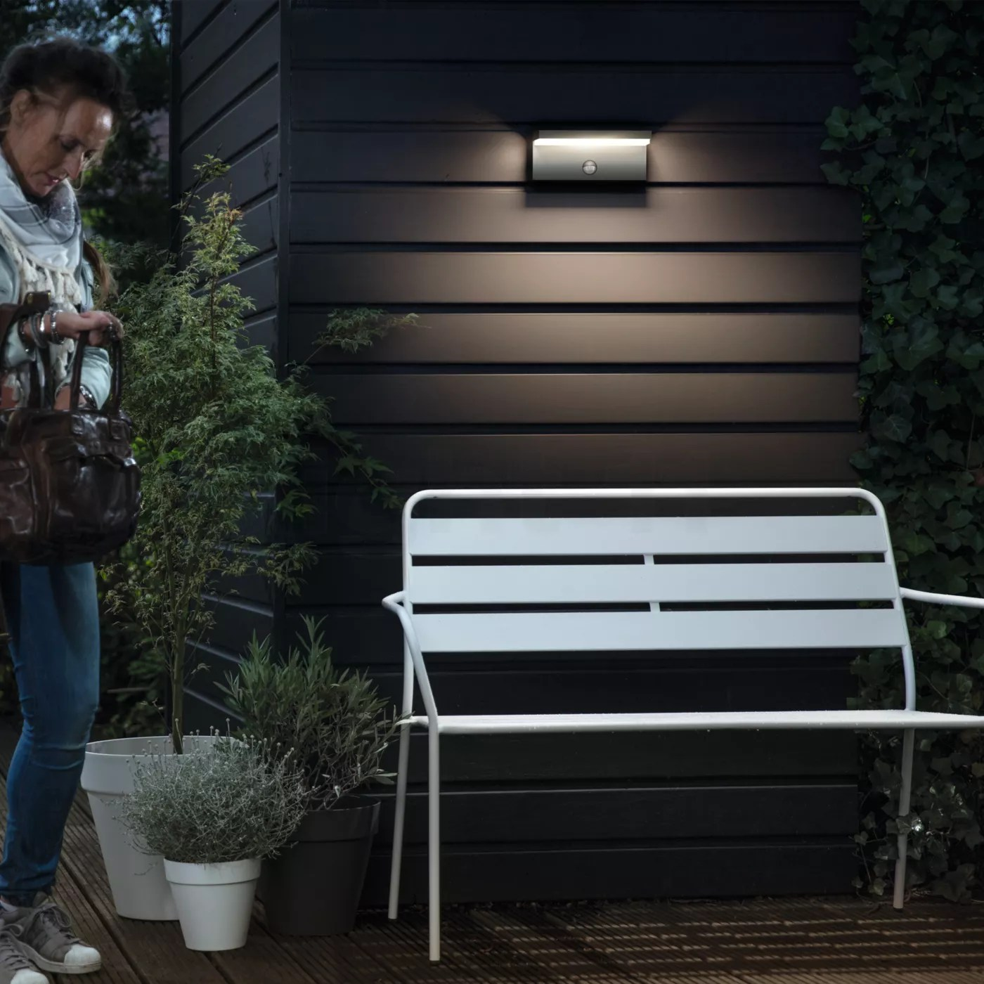 Philips Mygarden Outdoor Wall Light Buy Philips Mygarden Bustan Wall Light With Motion Detector Led At