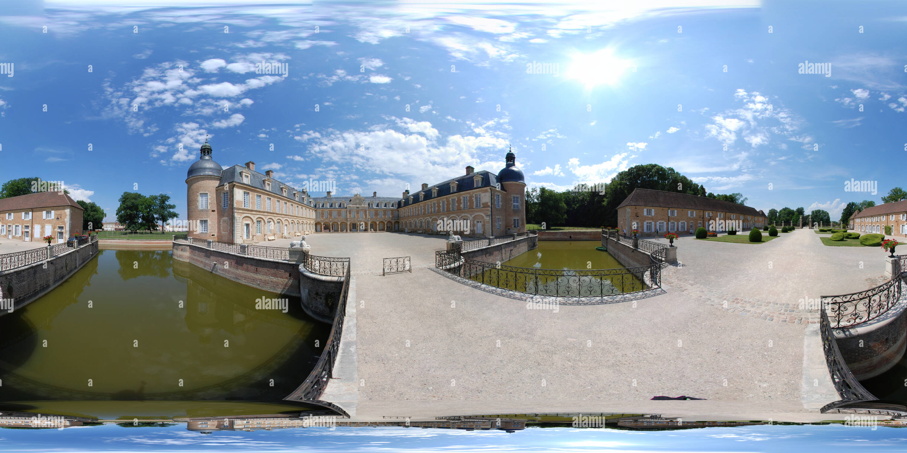 Pierre Bourgogne 360 View Of Chateau De Pierre De Bresse Bourgogne France