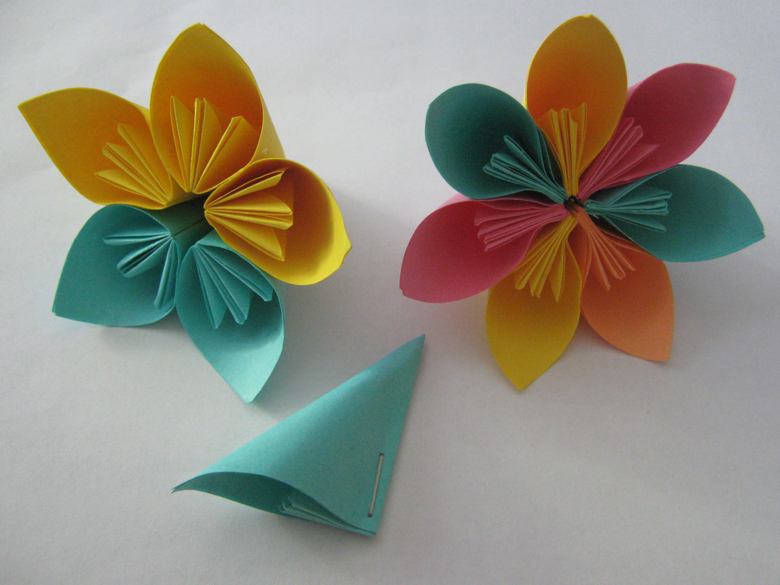 How To Make Handmade Flowers From Paper Tutorial Origami Flowers Learn 2 Origami Origami
