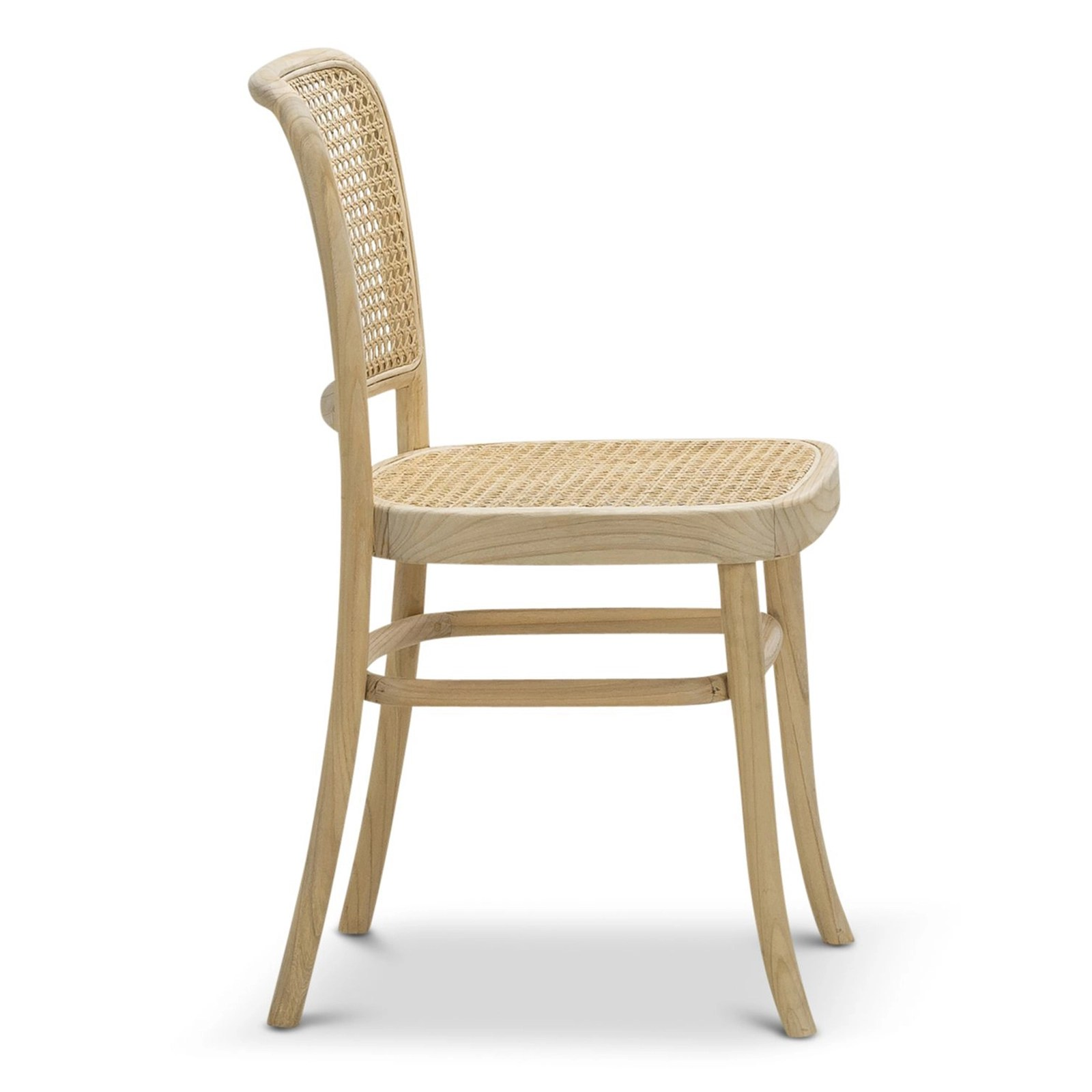 Prague Cane Bentwood Side Chair Natural Set Of 2