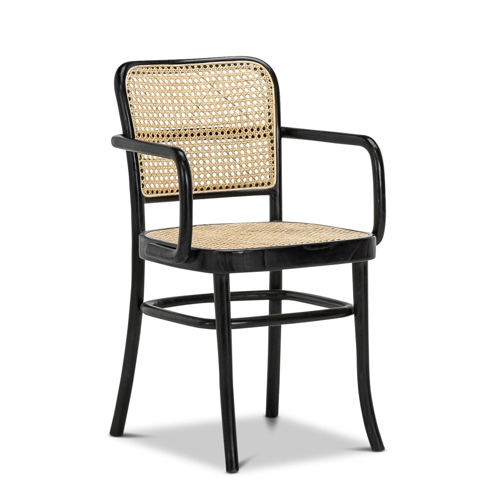 Prague Cane Bentwood Side Chair Natural