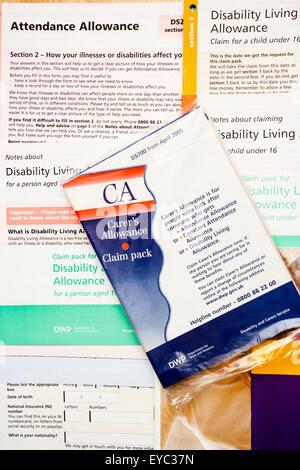 Benefit Dla Claim Stock Photos \ Benefit Dla Claim Stock Images - attendance allowance form