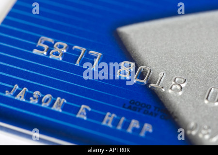 Blue and silver credit card with fake numbers Stock Photo 15863294