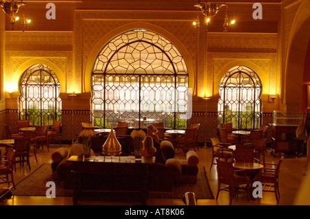 Moorish Style Palace Interior Architecture Stock Photo