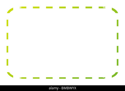 Blank green eco coupon or voucher isolated on white background with - blank voucher