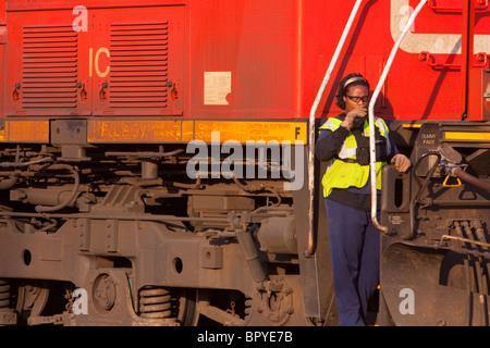 Railroad Conductor Stock Photo 60806470 - Alamy - frieght conductor