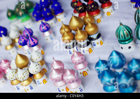 Christmas decorations on sale in department store Stock Photo - christmas decor on sale