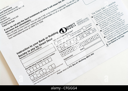 A direct debit form Stock Photo 39349123 - Alamy