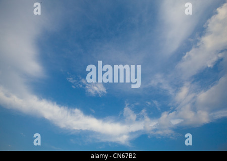 simple background with beautiful blue sky and white clouds Stock