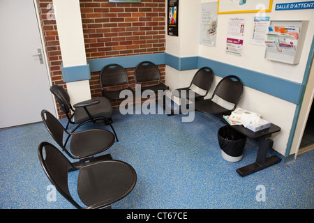 Hospital Waiting Room With Empty Chairs Stock Photo