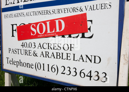 Agricultural land for sale sign with a \
