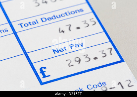 Close up of payslip Stock Photo 90463404 - Alamy