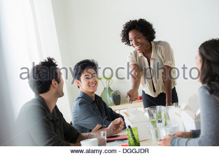 Informal business lunch meeting Stock Photo 32817131 - Alamy