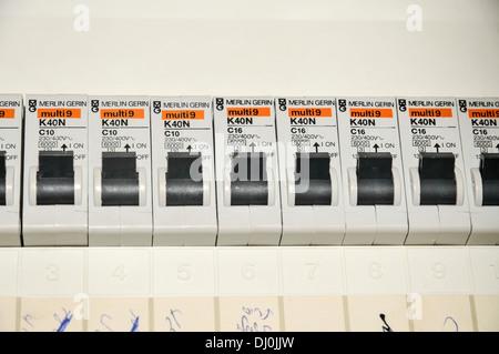 domestic electrical fuse box Stock Photo 152166852 - Alamy