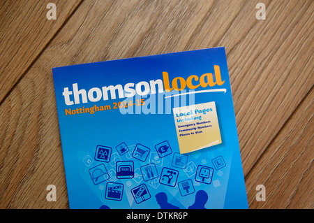 Thomson local business directory phone book Stock Photo 66776784 - business phone book