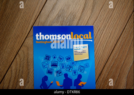Thomson local business directory phone book Stock Photo 66818158 - business phone book