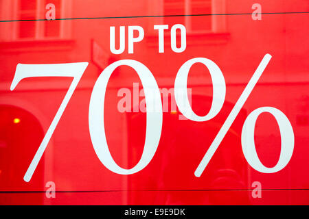 Red sale signs in a shop window display Stock Photo 92570137 - Alamy - sale signs