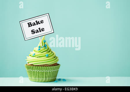 Cupcake with Bake Sale sign Stock Photo 78750987 - Alamy