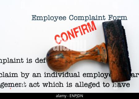 Employee complaint form grunge concept Stock Photo 135349133 - Alamy