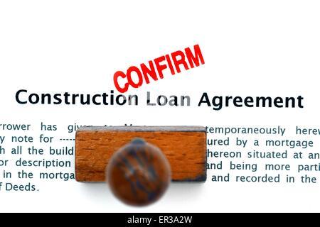 Construction loan agreement Stock Photo 83376668 - Alamy