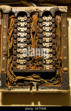 old fuse box Stock Photo 281145819 - Alamy
