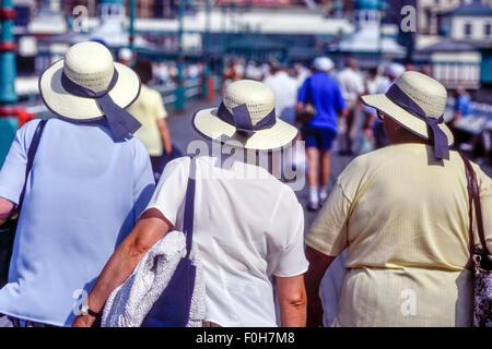 Three Elderly Women Walking Along Jurmala Beach At Majori