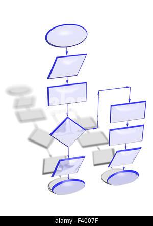 Abstract flowchart diagram Computer program algorithm Stock Photo