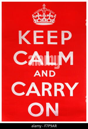 keep calm and carry on poster template with similar crown vector