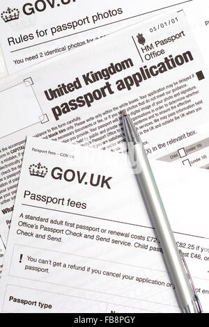 UK passport application form Stock Photo 66691524 - Alamy - passport renewal application form