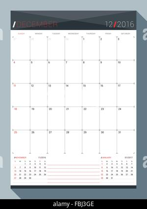 A monthly planner calendar for December 2016 A custom handwritten - december monthly calender