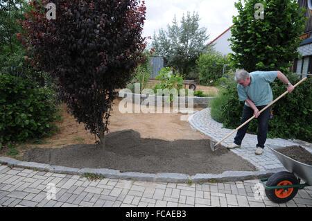 Laying Sod, Preparing Soil Stock Photo, Royalty Free Image