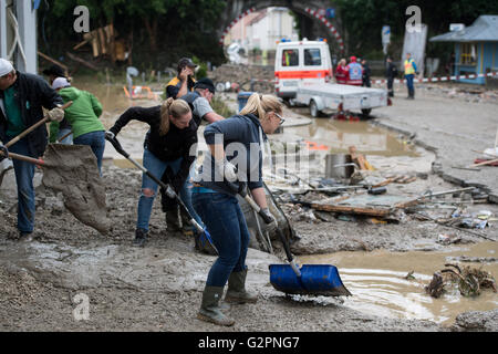 Bavaria Germany 02nd June 2016 Flood Damage Is Seen In