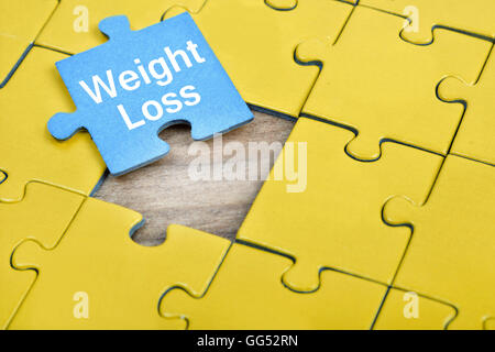 Puzzle pieces with word Weight Loss Stock Photo 113208723 - Alamy