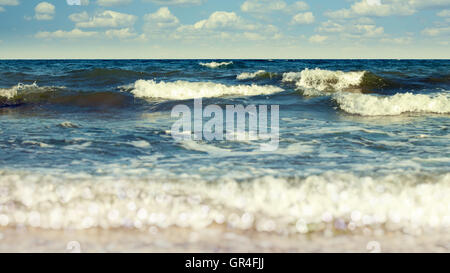 Abstract vacation backgrounds with coast line, sea waves and beauty