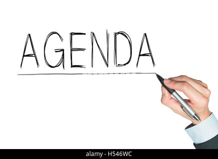 Conceptual hand writing showing Agenda Business photo showcasing To