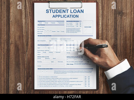 Student Loan Application Form Concept Stock Photo 129008267 - Alamy