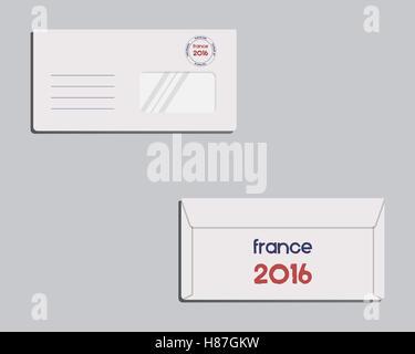 France 2016 Football poster Retro stylish France flag background
