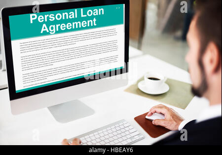 Personal Loan Agreement Banking Credit Contract Concept Stock - credit agreement
