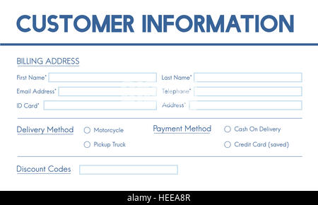 Invoice Billing Information Form Graphic Concept Stock Photo - invoice billing