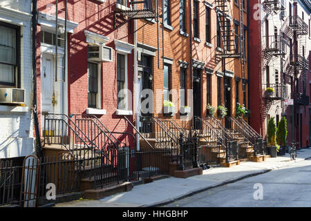 Red Brick Apartment Building With Fire Escapes Soho