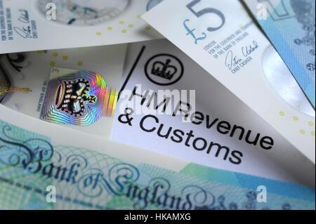 UK HMRC self assessment income tax return form 2018 Stock Photo