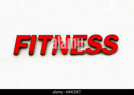 Fitness center word on fitness gym blur background banner Stock