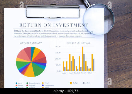 Return of Investment analysis in flat layout Stock Photo 134821564 - investment analysis
