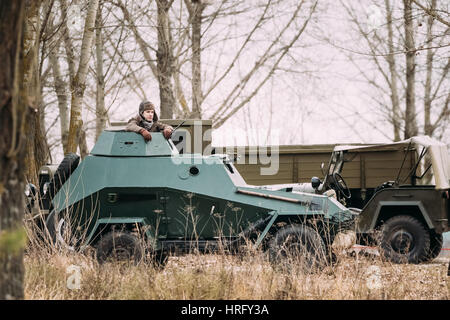 BA-64 Is A Small Lightly Armoured Soviet Scout Car Stands In Autumn - ba stands for