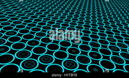 Moving technologic circles Animation of seamless loop Stock Photo