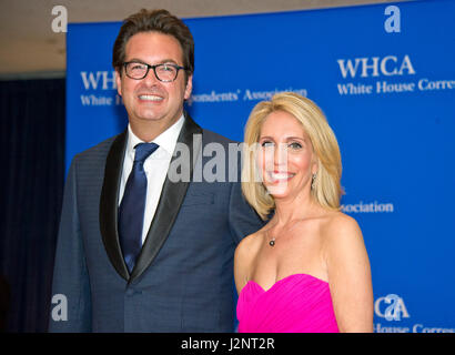 Marc Adelman And Dana Bash Arrive For The 2017 White House