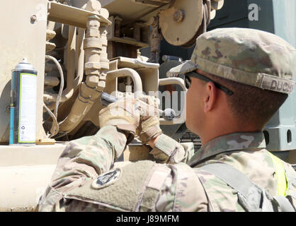 Spc Collin M Duclos, a motor transport operator with the 539th