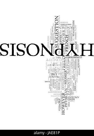 A Brief History of Hypnosis text background word cloud concept Stock